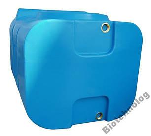 Бак, бочка, емкость 200 литров пищевая прямоугольная, крышка d 35 см SК, фото 2
