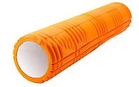 Ролик для йоги, пилатеса и фитнеса Pro Supra (оранжевый)