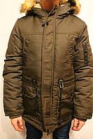 Куртки-аляски оливкового цвета для мальчиков от 8 до 16 лет (134-164см) Фирма-S&D Венгрия.