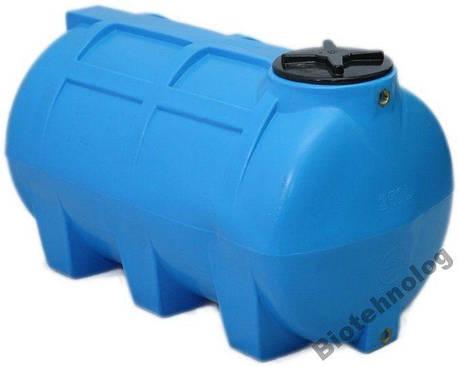 Бак, бочка, емкость 250 литров пищевая горизонтальная 200 300 G, фото 2