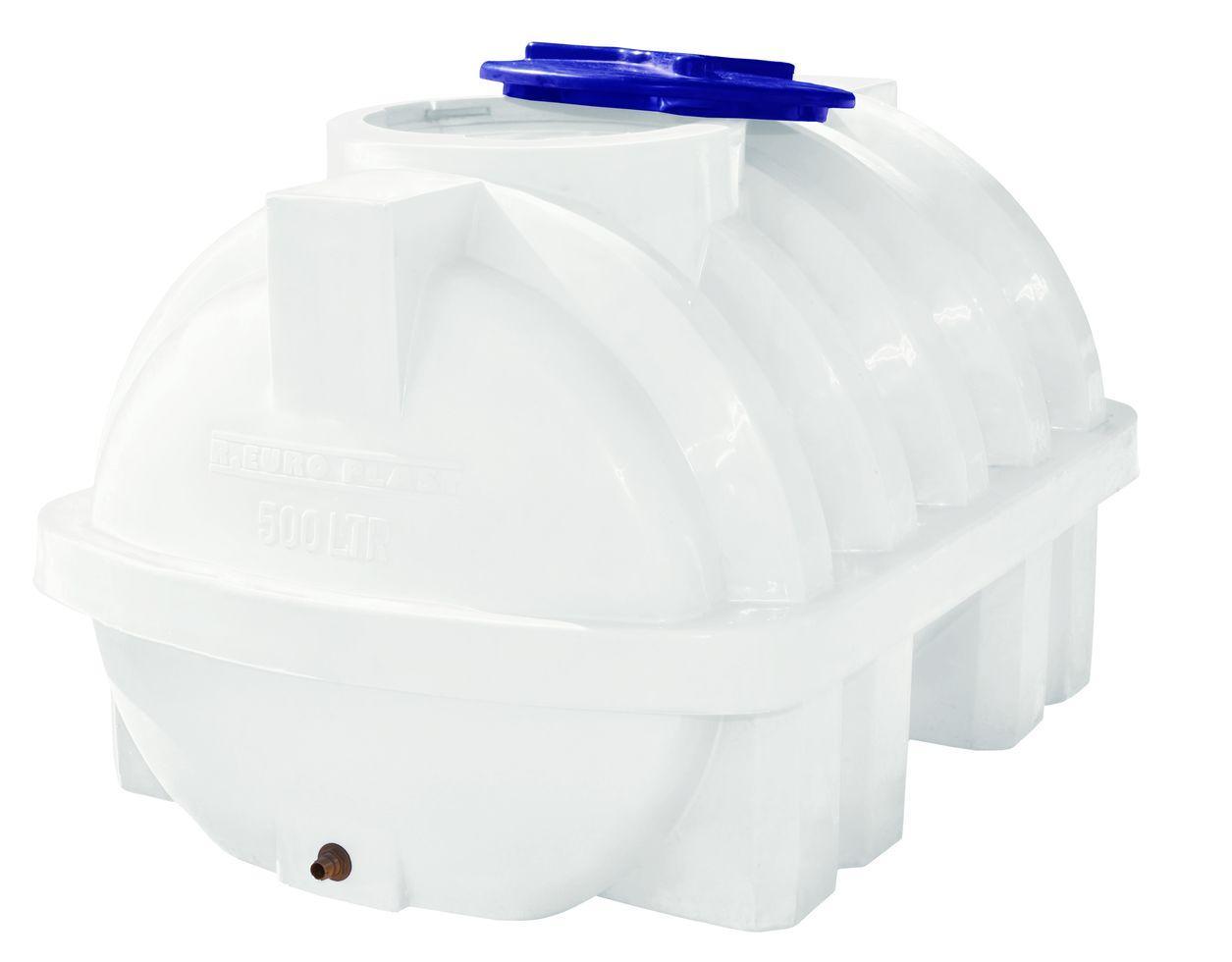 Бак, бочка, емкость 500 литров пищевая горизонтальная усиленная с ребром RGО Р
