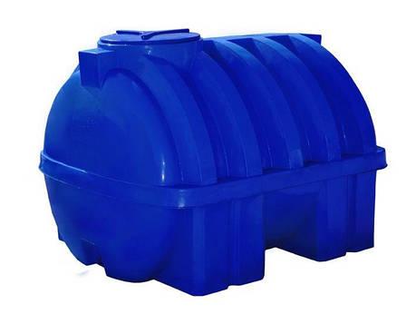 Емкость 750 литров бак, бочка усиленная ребром пищевая двухслойная горизонтальная 700 800 RGД Р, фото 2