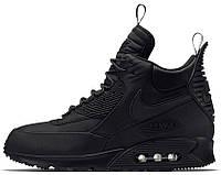 "Мужские кроссовки Nike Air Max 90 Winterized Sneakerboot ""Triple Black"" (Найк Аир Макс 90 Сникербут) черные"