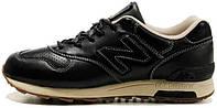 Мужские кожаные зимние кроссовки New Balance 1400 Winter Leather Casual Shoes Black (Нью Баланс) черные