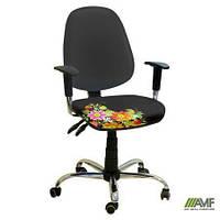 Эргономичное компьютерное кресло Бридж хром Украина №8 с механизмом Multi Fix для подростков и взрослых ТМ AMF  245351