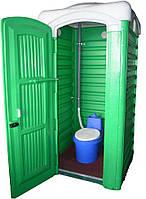 Биотуалет торфяной кабина, туалет дачный с баком 60 литров