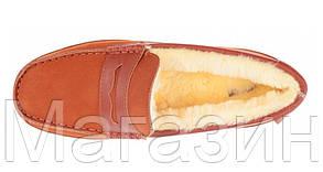 Зимние мужские мокасины с мехом UGG Australia Chestnut УГГ Австралия рыжие, фото 3