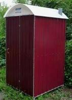 Биотуалет, туалет металлический с баком 250 литров кабина неразборная автономная, мобильная