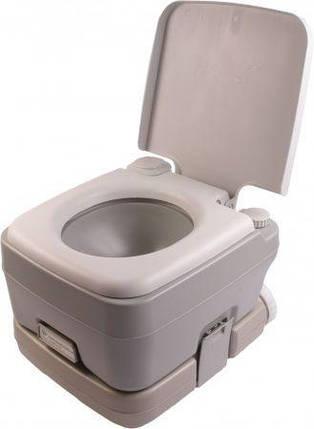 Биотуалет, туалет на кемпинг портативный 10 л с сильфонной помпой PT10 PortaFlush, фото 2