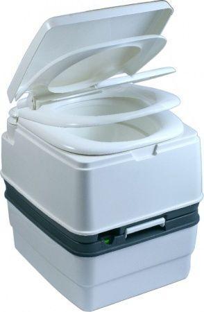 Биотуалет, туалет на кемпинг портативный 21л с поршневым насосом белый PT21-AH ( DTW-01A )