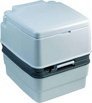 Биотуалет, туалет на кемпинг портативный 21л с поршневым насосом белый PT21-AH ( DTW-01A ), фото 2