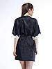 Шелковый халат Serenade, арт. 202, черно-экри  , фото 2