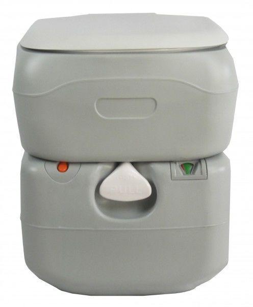 Биотуалет, туалет на кемпинг портативный 21л с поршневым насосом серый 4521