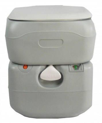 Биотуалет, туалет на кемпинг портативный 21л с поршневым насосом серый 4521, фото 2