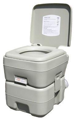 Біотуалет, туалет на кемпінг портативний, кімнатний 20л з поршневим насосом 3020 T