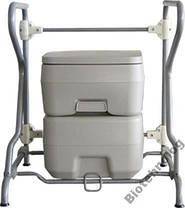 Біотуалет, туалет на кемпінг портативний, кімнатний 20л з поршневим насосом 3020 T, фото 2