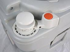 Биотуалет, туалет на кемпинг электрический 21л с электрическим смывом серый 4521E, фото 2