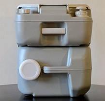 Биотуалет, туалет на кемпинг электрический 21л с электрическим смывом серый 4521E, фото 3