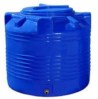 Вертикальная двухслойная емкость 200 литров бочка пищевая, бак RVД