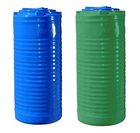 Вертикальная двухслойная узкая емкость 200 литров бочка пищевая, бак RVД У, фото 2