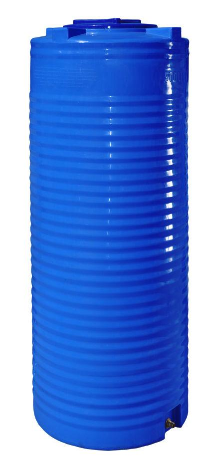 Бак, бочка, емкость 500 литров пищевая двухслойная узкая вертикальная RVД У