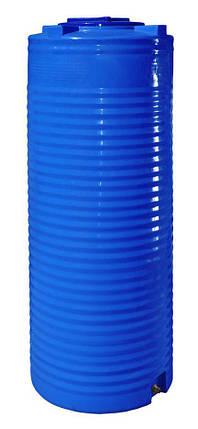 Бак, бочка, емкость 500 литров пищевая двухслойная узкая вертикальная RVД У, фото 2