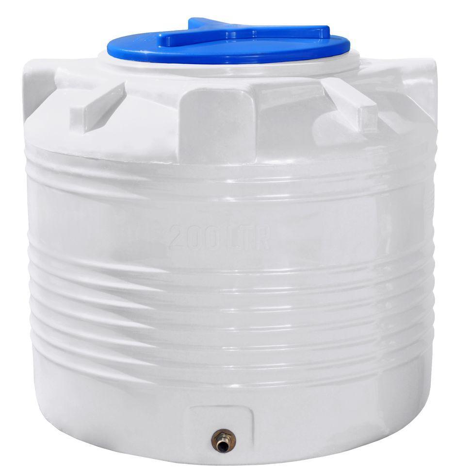 Вертикальная емкость 200 литров бочка пищевая, бак RVО