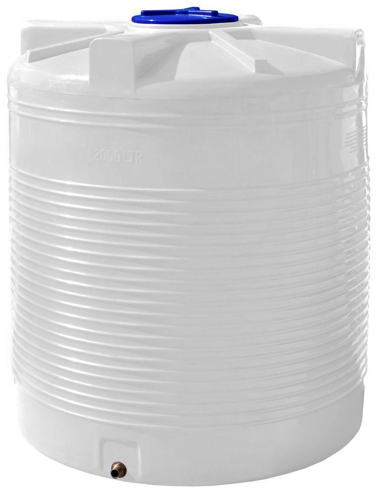 Вертикальная емкость 2000 литров бак, бочка пищевая RVО