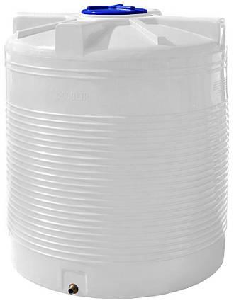 Вертикальная емкость 2000 литров бак, бочка пищевая RVО, фото 2