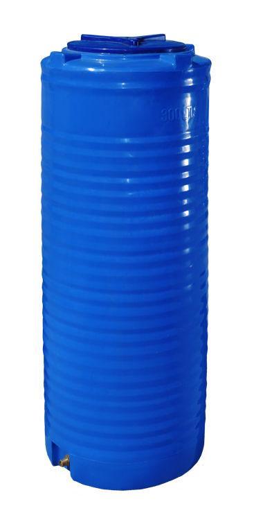Вертикальная узкая двухслойная емкость 300 литров бочка пищевая, бак RVД У