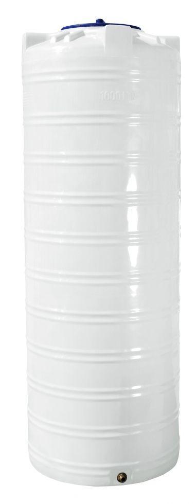 Емкость 1000 литров бак, бочка пищевая узкая вертикальная RVО У