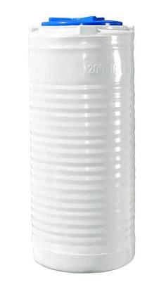Вертикальная узкая емкость 200 литров бочка пищевая, бак RVО У, фото 2