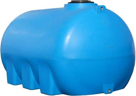 Горизонтальная емкость 3000 литров бак, бочка пищевая G, фото 2