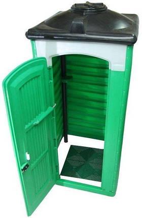 Душевая кабина с баком 200 литров летняя дачная садовая, душ летний дачный, фото 2