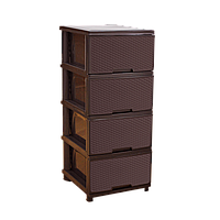 Комод коричневый 4 ящика