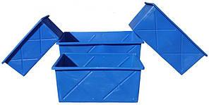 Контейнер пищевой 1000 литров ящик промышленный белый емкость, фото 3