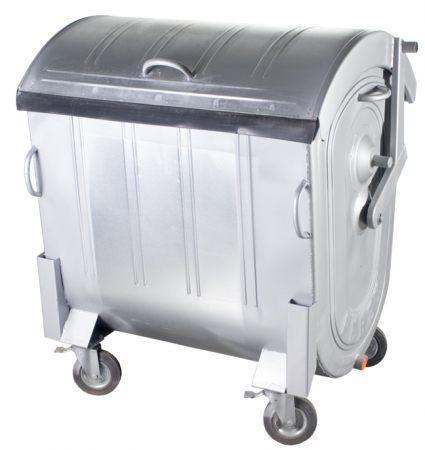 Контейнер для мусора 1100 литров оцинкованный евростандарт 1000