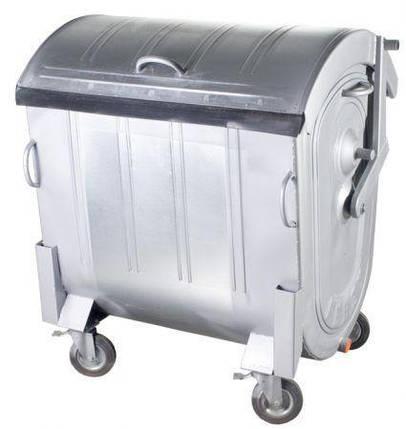 Контейнер для мусора 1100 литров оцинкованный евростандарт 1000, фото 2