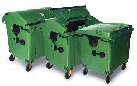 Контейнер для мусора 1100 литров пластиковый евростандарт 1000, фото 2