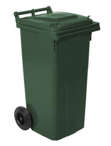 Контейнер для мусора на колесах 120 литров зелёный бак емкость Тип А 100 150