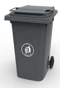 Контейнер для мусора 360 литров бак на колесах черный емкость 300 350 400