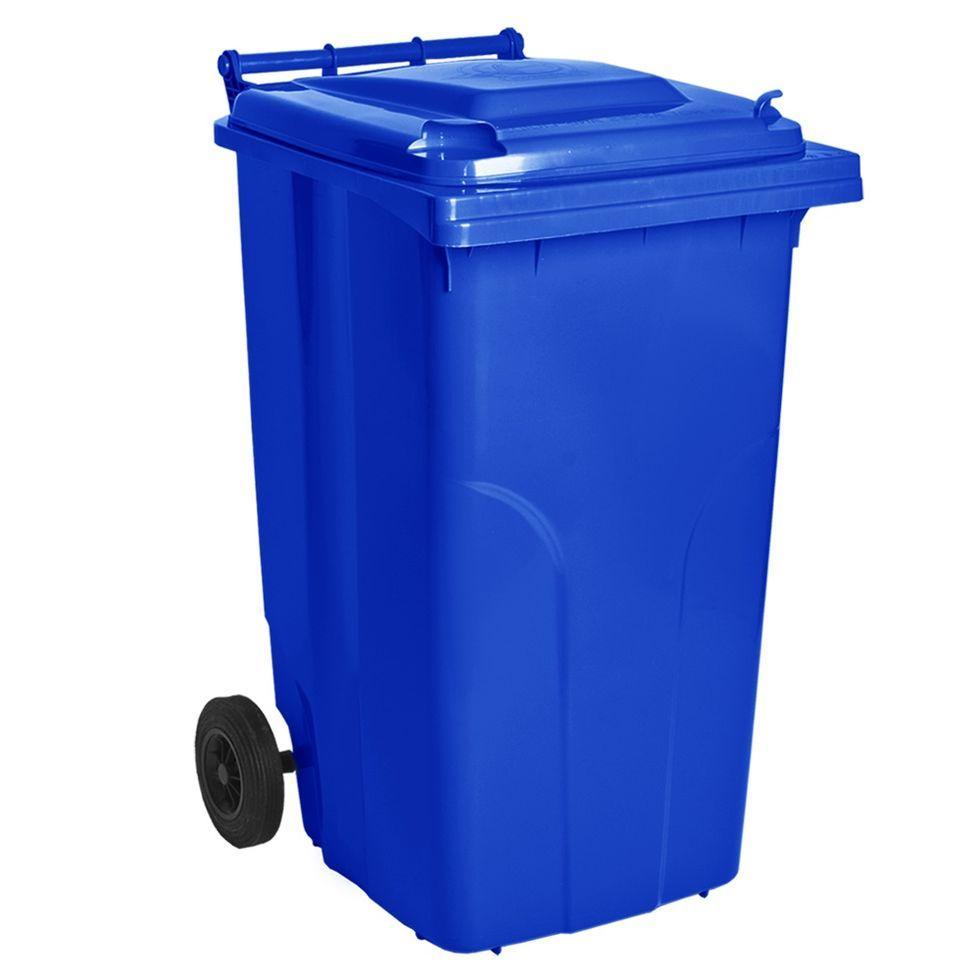 Контейнер для мусора 240 литров бак на колесах синий емкость Тип А 200 250 300