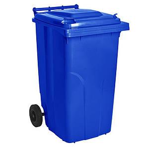 Контейнер для мусора 240 литров бак на колесах синий емкость Тип А 200 250 300, фото 2