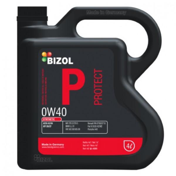 Синтетическое моторное масло -  BIZOL Protect 0W-40 4л