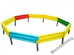 Песочница на девять боковин для детской площадки любой формы