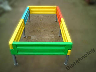 Песочница на шесть боковин для детской площадки любой формы, фото 2