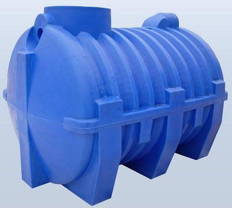 Септик синий 3000 литров для автономной частной канализации, отстойник, фото 2