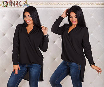 Блуза со шлейфом