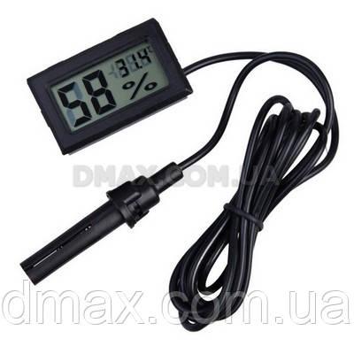 Цифровой термометр гигрометр с выносным датчиком, фото 1