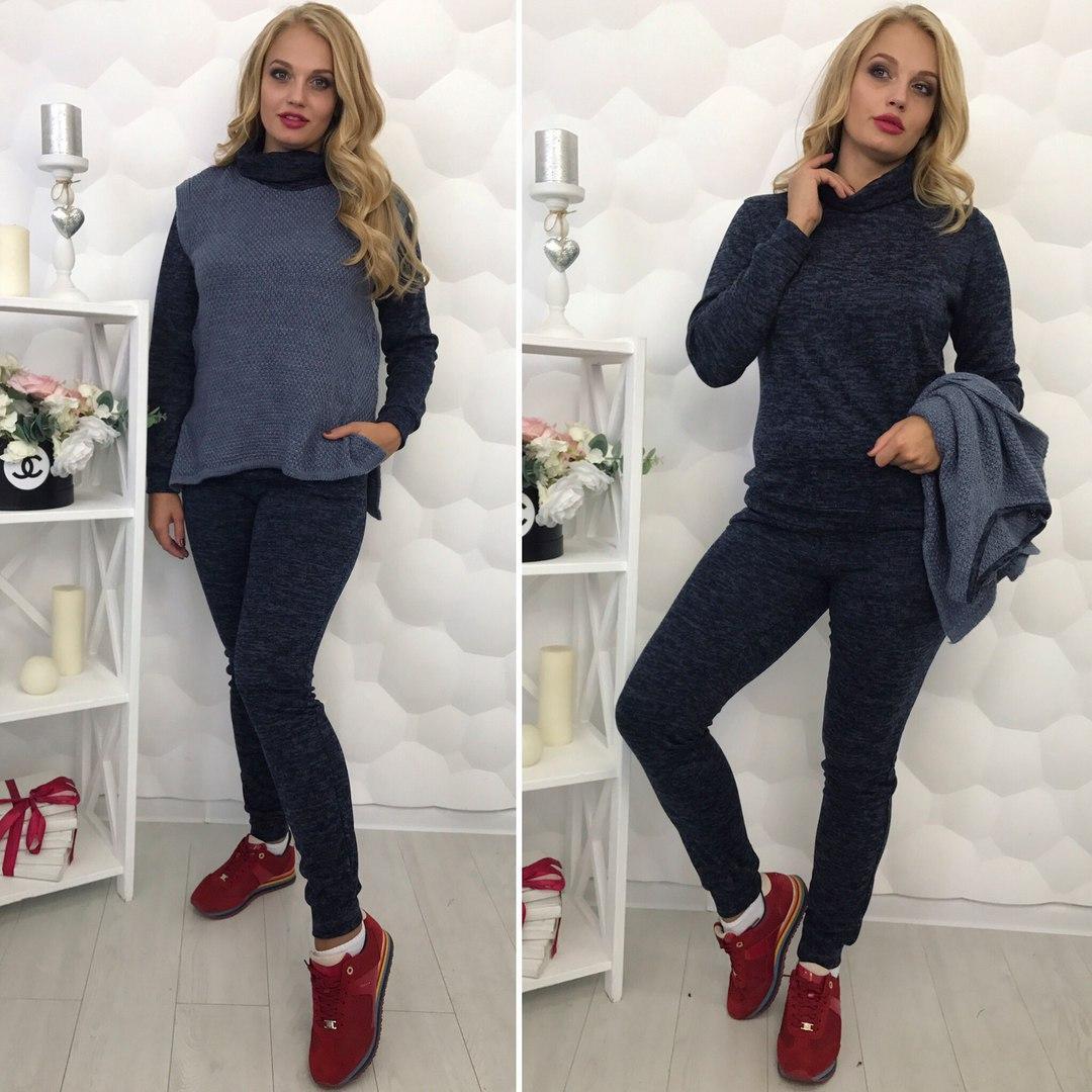 Костюм женский тройка в расцветках 21904  Интернет-магазин модной женской  одежды оптом и в розницу . Самые низкие цены в Украине. костюмы женские от